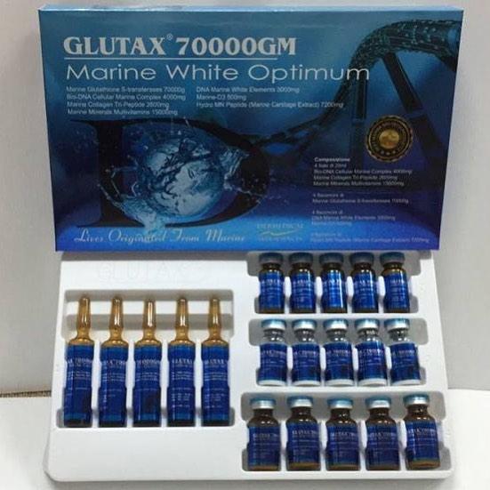 Serbi Dunia Cara Menghilangkan Flek Hitam Di Wajah: Infus Glutax 70000GM Marine White Optium