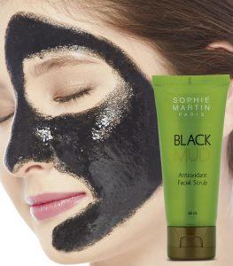 Black Mud Facial Scrub Sophie Paris